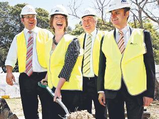 Julia Gillard hard hat
