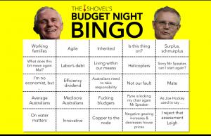 the shovel's budget night bingo